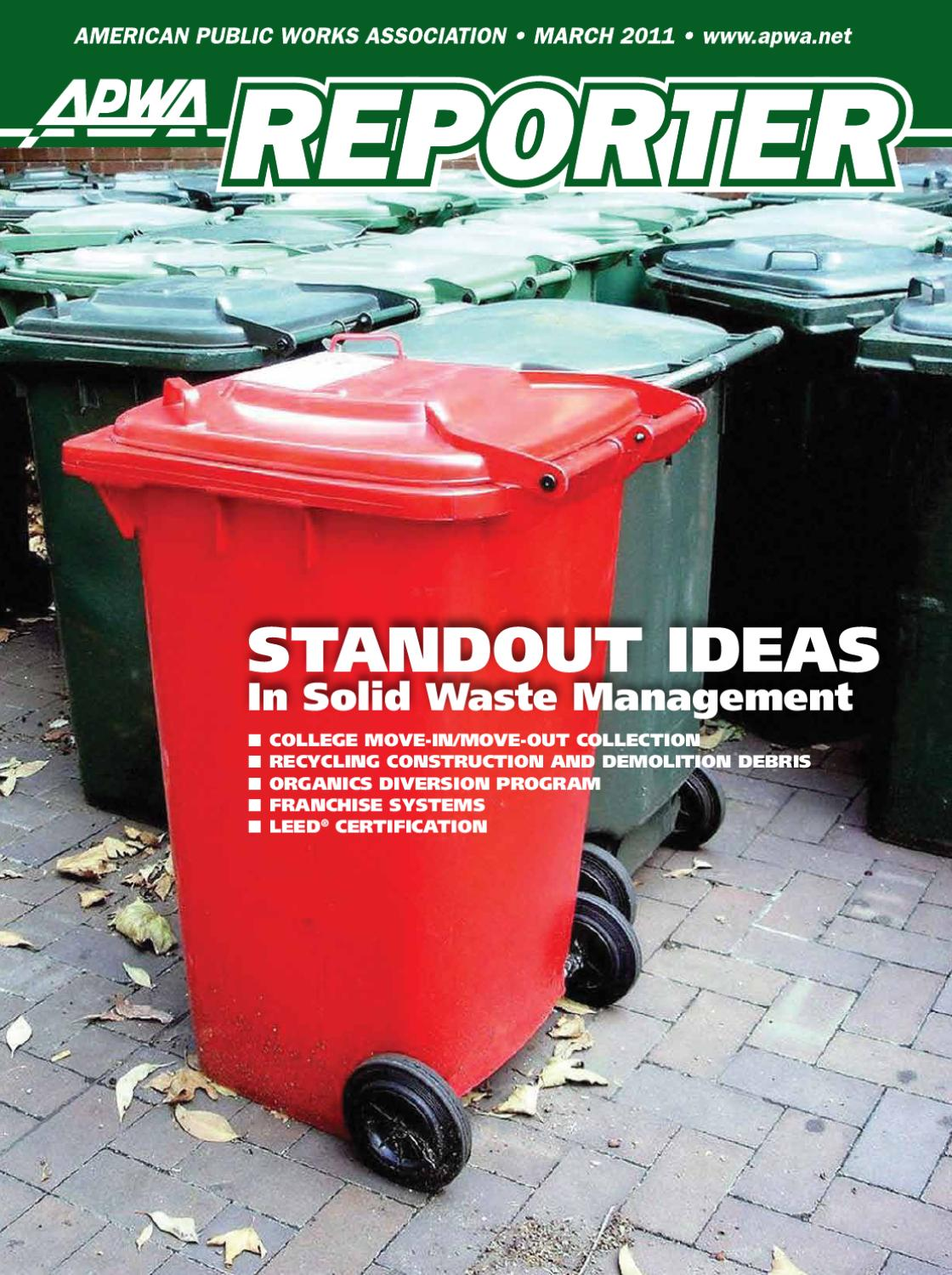 Apwa Reporter March 2011 Issue By American Public Works Association Control Panel Layout And Wiring Best Practices Harold On Controls Issuu