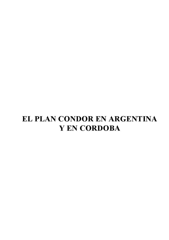 El Plan Cóndor en Argentina y en Córdoba by Noticias Del Frente - issuu