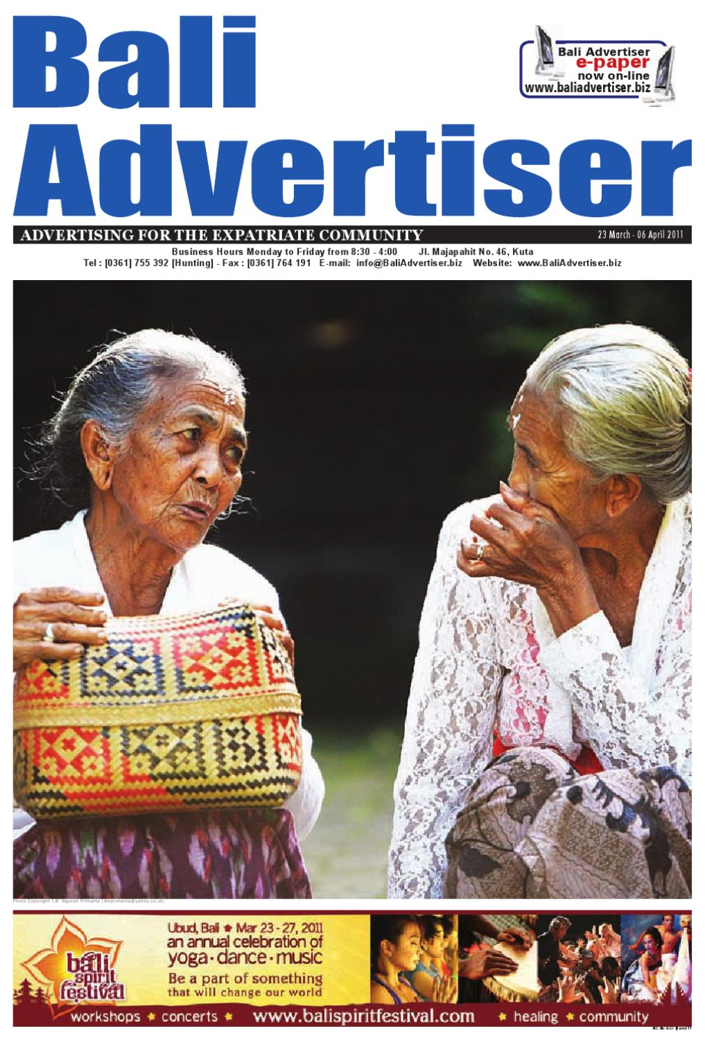 Ba 23 March 2011 By Bali Advertiser Issuu Batik Wanita Coklat Bc 40 Nby