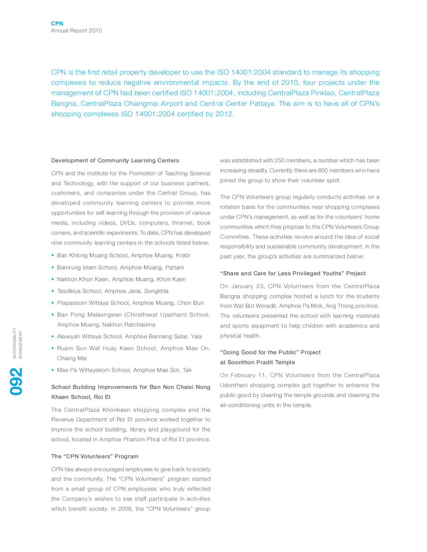 Annual Report 2010 :: by Phantipa Kwanmuang - issuu