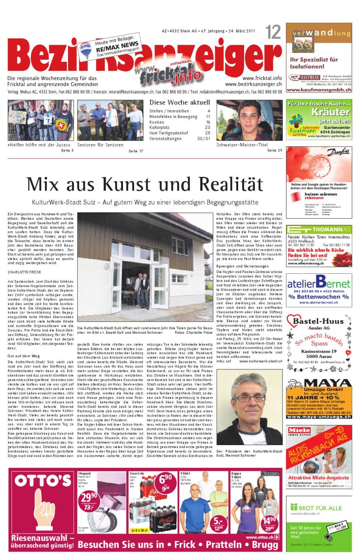 Bezirksanzeiger 2011 12 by Mobus AG - issuu