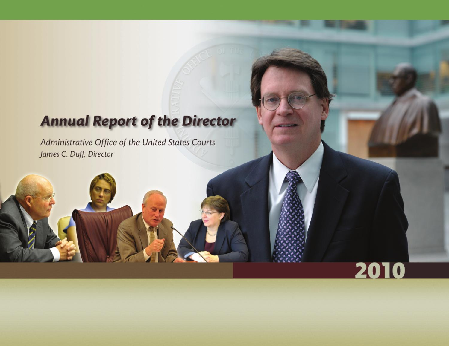 Annual report of the director administrative office u s courts by united states courts issuu - Us courts administrative office ...