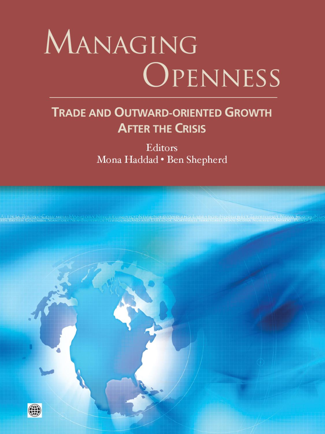 Managing Openness Trade And Outward Oriented Growth After border=