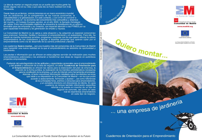 Como montar una empresa de jardiner a by aedl mic issuu for Empresas de jardineria