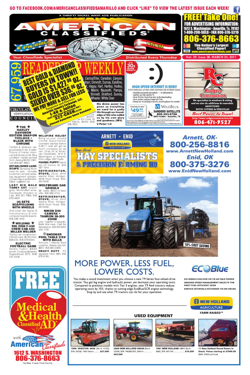 American classifieds amarillo tx march 24 2011 by american classifieds issuu