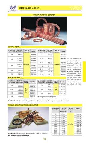 Tuberia de cobre by distribuciones casamayor issuu - Precio de tuberia de cobre ...