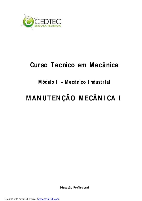f84ba2ec16a Manutenção Mecânica by Andressa Libardi - issuu