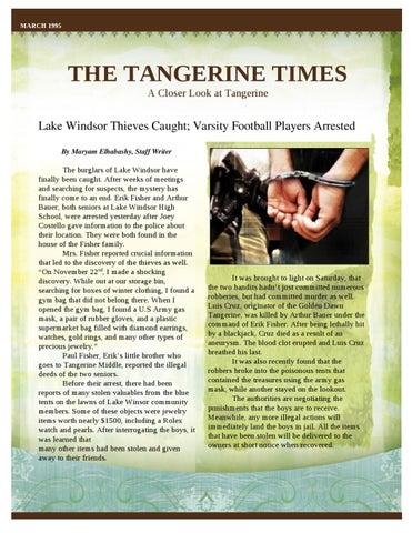 The Tangerine Times By M Elhabashy Issuu