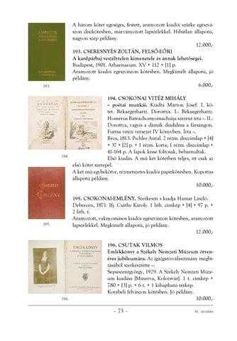 Honterus Antikvárium 81. aukció by Honterus Antikvárium - issuu 9339e95f98