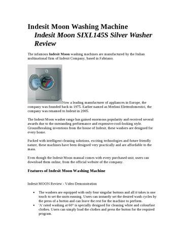 Indesit Moon Washing Machine By Royan Clark Issuu border=