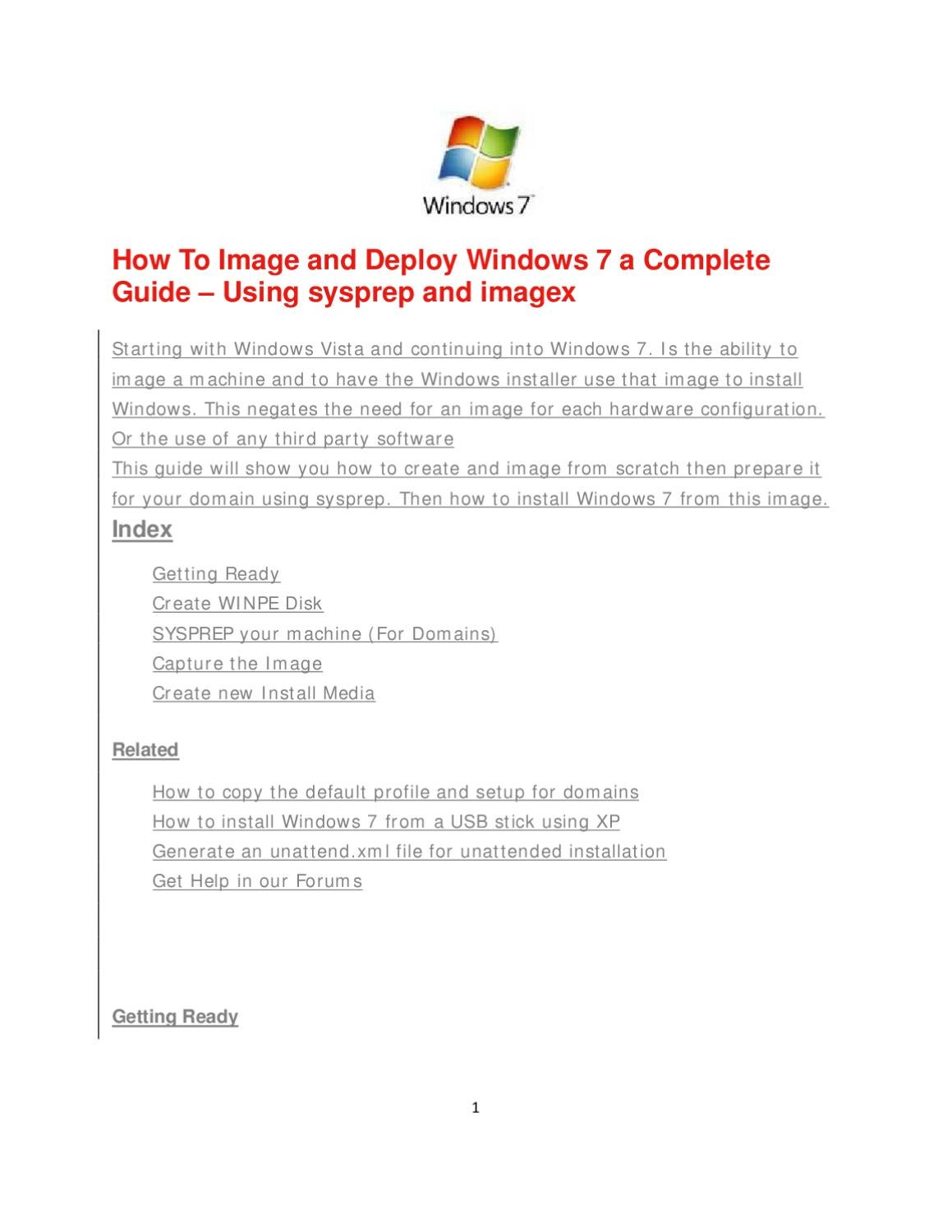 Windows 7 image and deploy by Fekade Tadesse - issuu