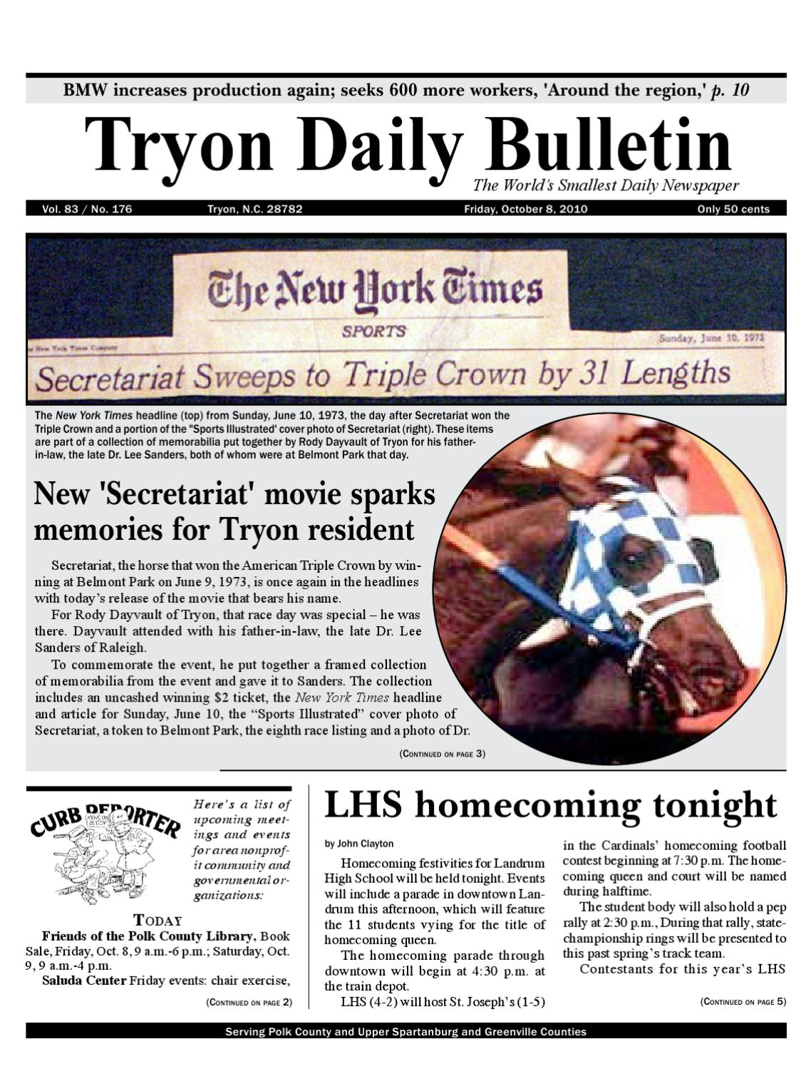 14c41f4ae54e53 20101008complete by Tryon Daily Bulletin - issuu