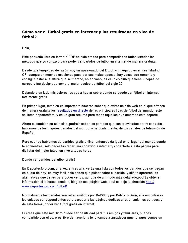 Ver Futbol Gratis en Internet by Jose Garrido - issuu