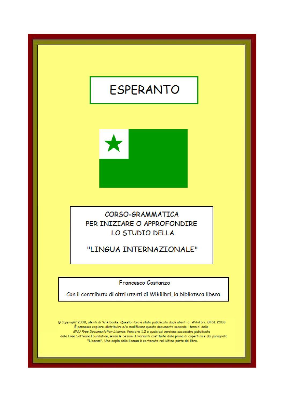 lezioni Esperanto by Alessandro C. - issuu e56d814e7bc2
