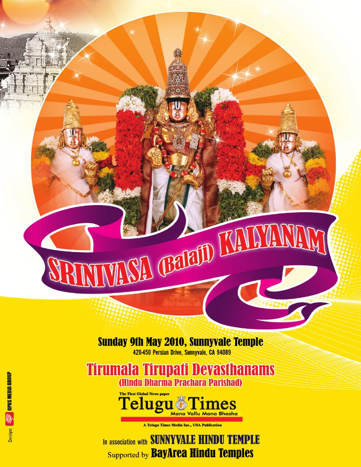 Srinivasa_Kalyanam by mallesh sampangi - issuu