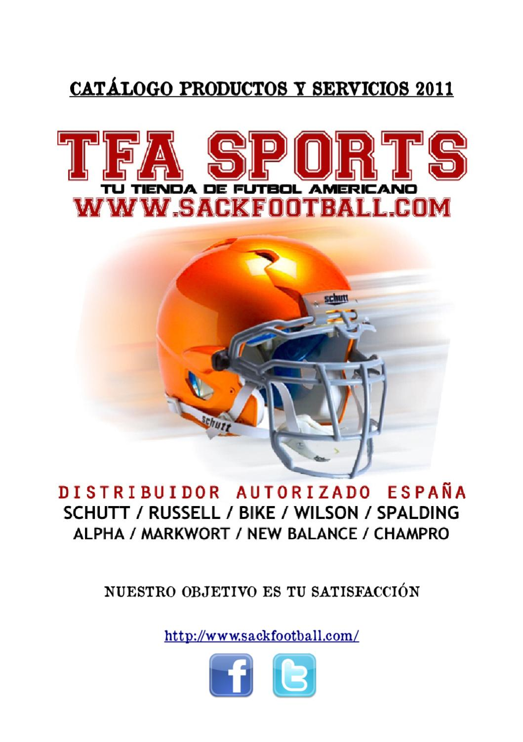 CATALOGO 2011 TFA SPORTS ONLINE by TFA SPORTS - issuu