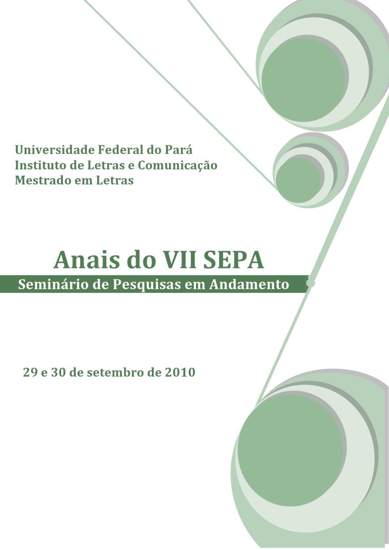 Anais VII SEPA 2010 by Marcelo Dias issuu