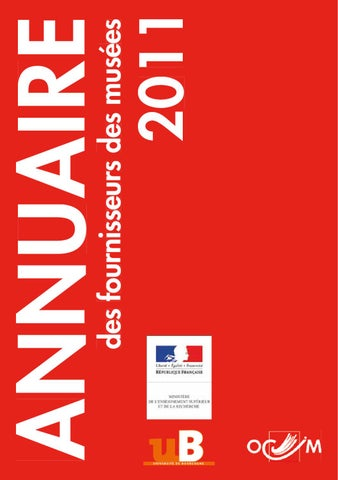 Annuaire Des Fournisseurs Muses Dition 2011 By Dom Webmaster