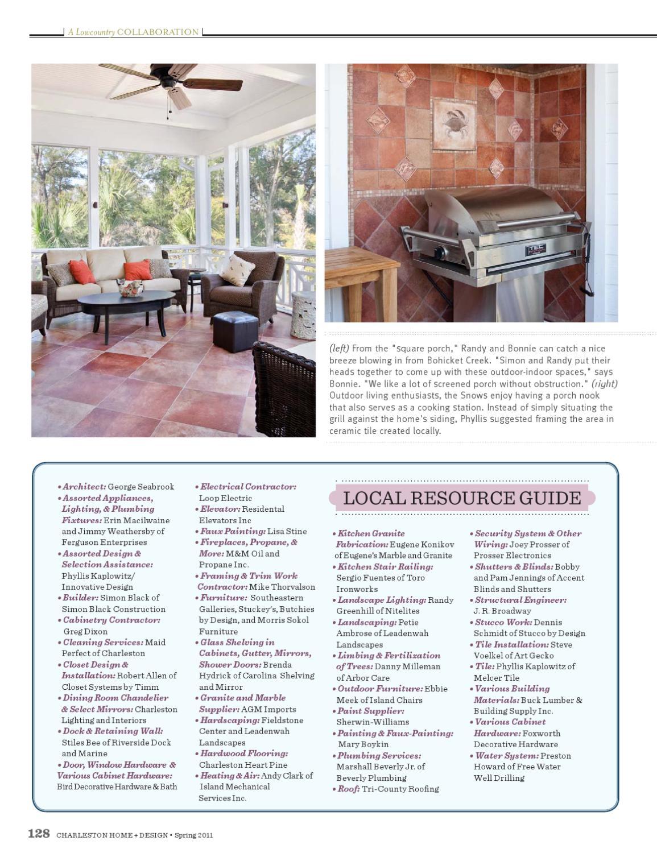 Charleston Home Design Magazine Spring 2011 By Charleston Home Design Magazine Issuu