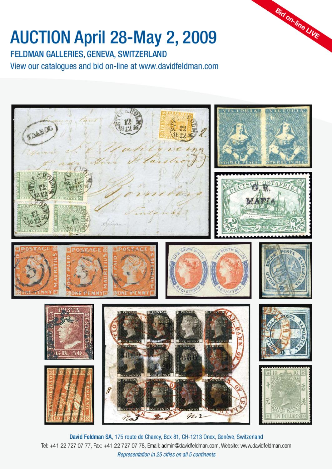 Stamps auction catalogue: Rarities of the World 2009 by