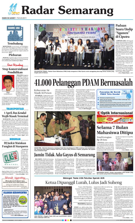 Radar Semarang Rabu 30 Maret 2011 By Rs Issuu