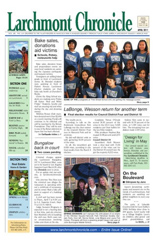2011 04 Larchmont Chronicle By Larchmont Chronicle Issuu