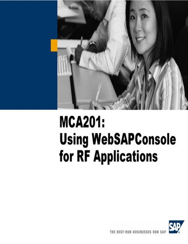 Using WebSAPConsole for RF Applications by e-One Group - issuu
