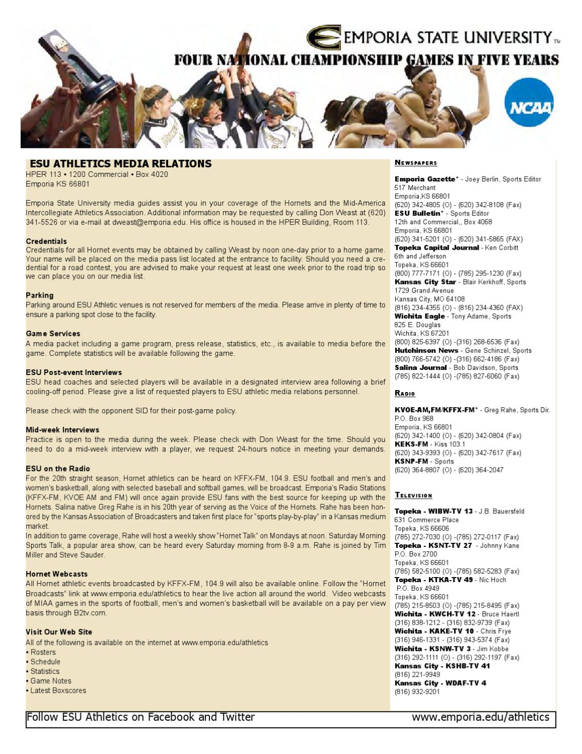 Football media guide by Emporia State University - issuu