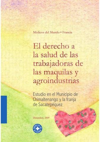 El derecho a la salud de las trabajadoras de las maquilas y ... fe5030ddb5e0b