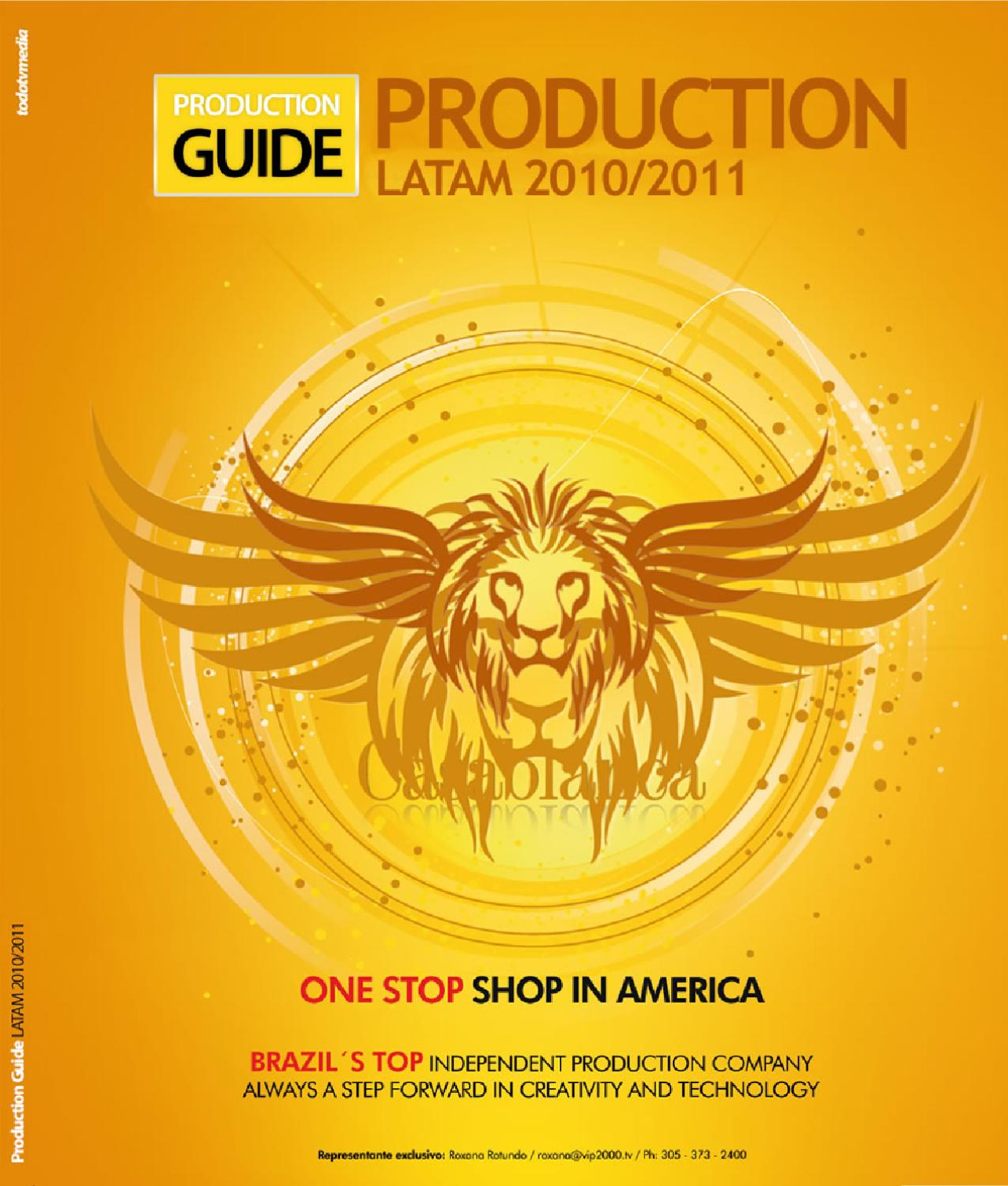 Production Guide | Latam 2010/2011 by TodotvMedia - issuu