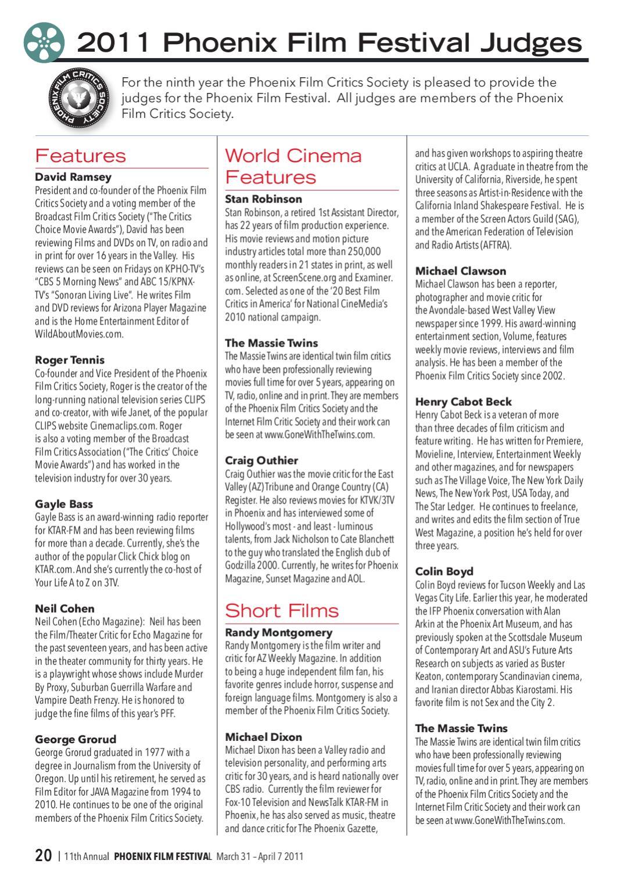 Phoenix Film Festival 2011 by InMedia - issuu