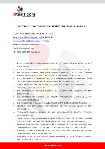 Contoh Skripsi Analisis Novel Bahasa Inggris - Kumpulan ...