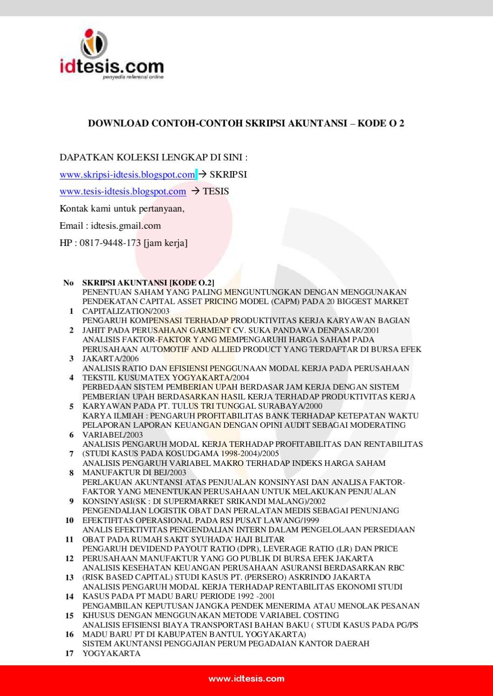 Contoh Skripsi Akuntansi Kode O2 By Sanjaya Jogja Issuu