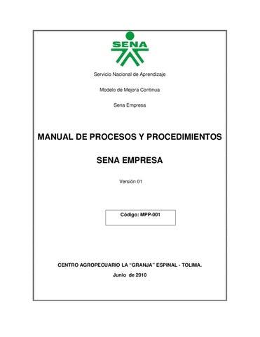 Manual de procedimientos by danny steven liberato gacha Manual de procesos y procedimientos de una empresa de alimentos