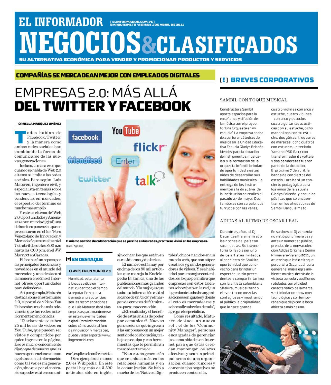 negocios y clasificados 2011 04 01 by El Informador Diario online