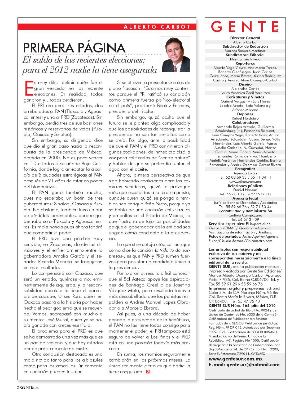 Revista Gente sur 165 by Manuel Ocampo - issuu