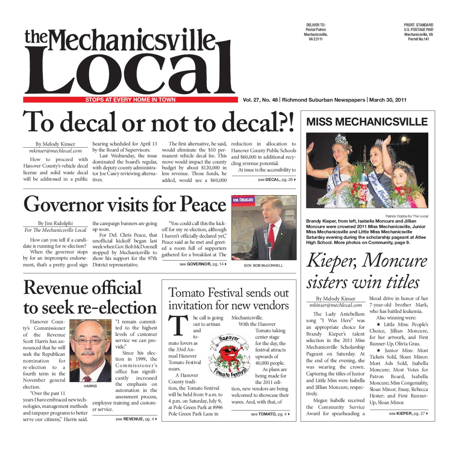 03/30/2011 by The Mechanicsville Local - issuu
