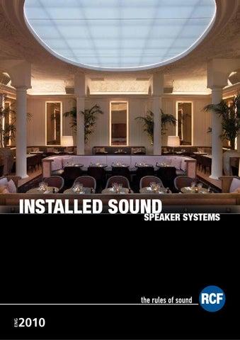 RCF - Installed Sound Systems catalogue by Martin Aliandri - issuu