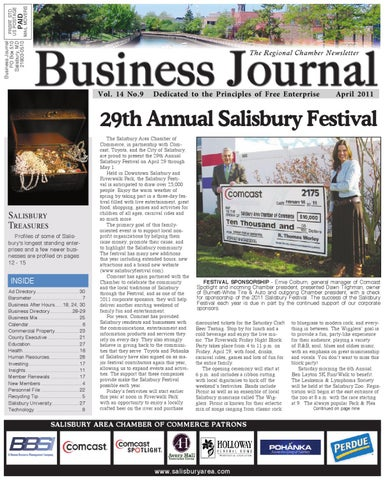 Salisbury Business Journal by Morning Star Publications