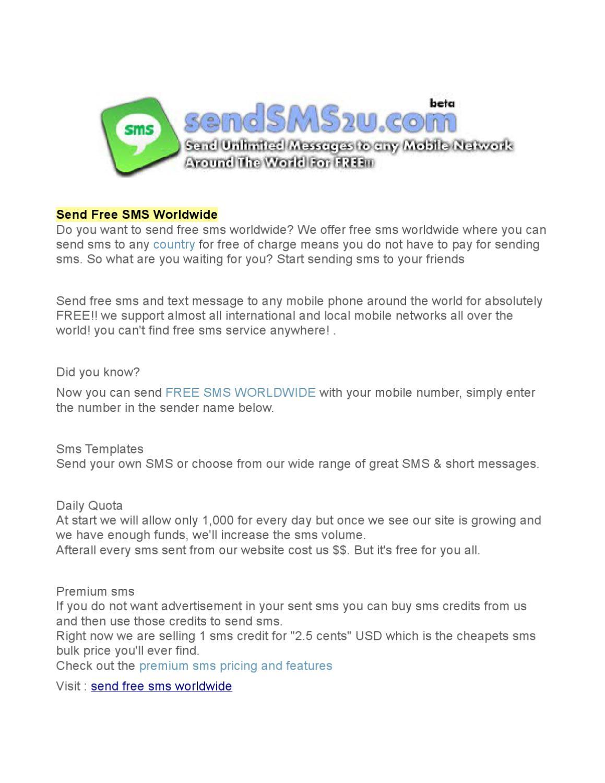 Free Sms Send
