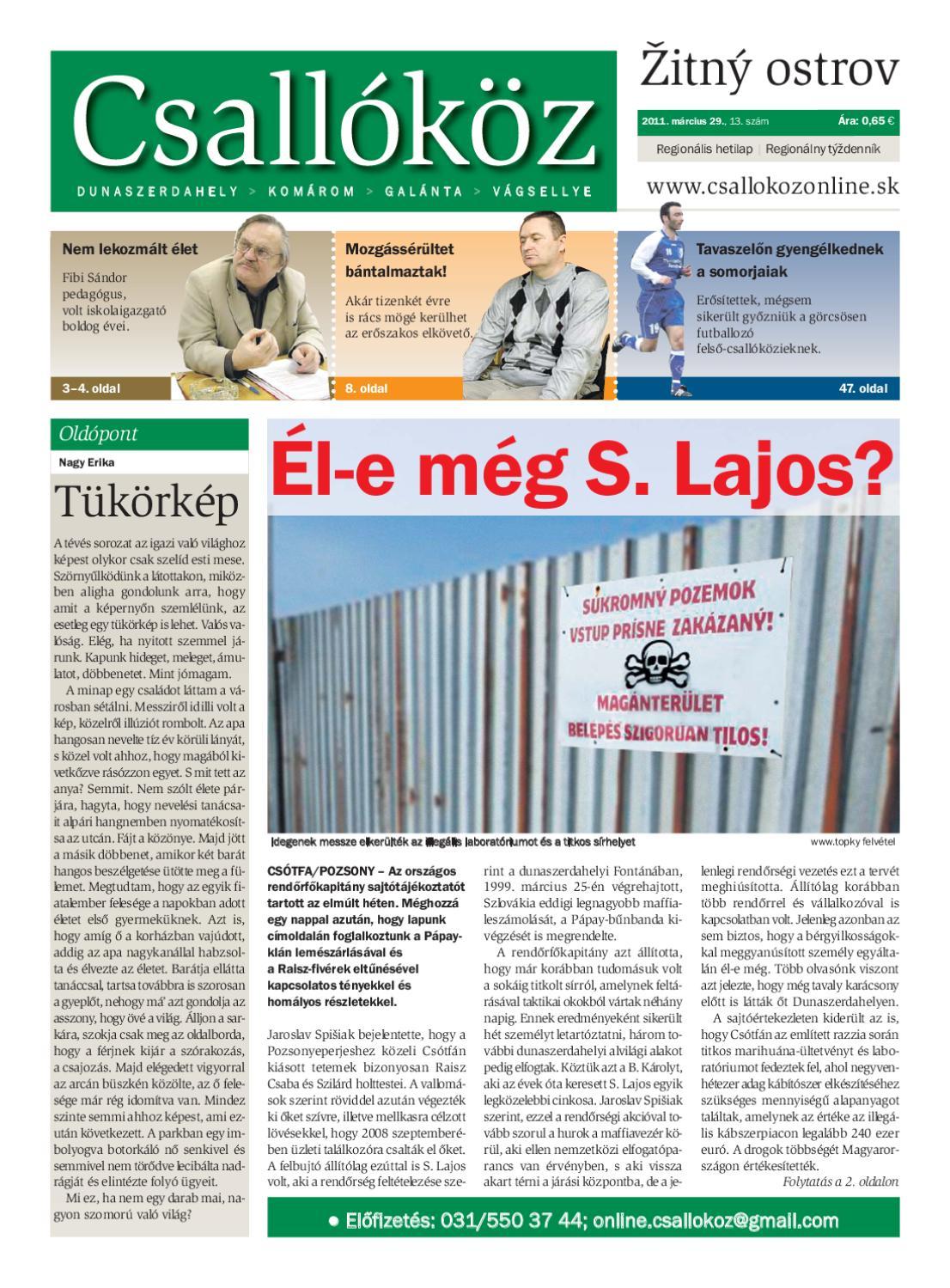 2404721a4f59 2011-13 Csallóköz by Csallóköz Šéfredaktor - issuu