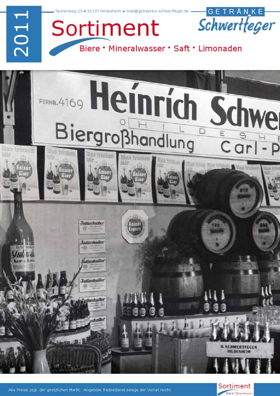 Getränke Schwertfeger by Getränke Schwertfeger - issuu