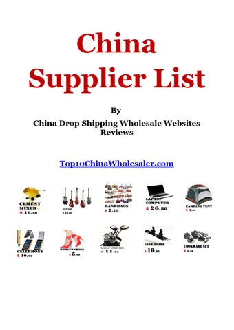 Free China Suppliers List by Ronald Peregrin - issuu 7bf2b6650a
