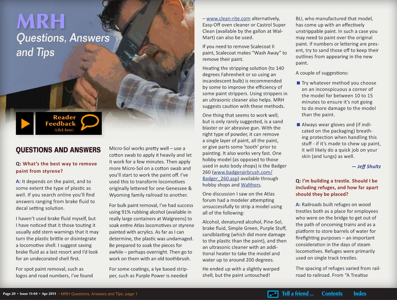 MRH Apr 2011 - Issue 11-04 by Model Railroad Hobbyist