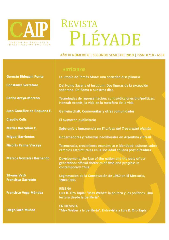 REVISTA PLÉYADE Nº6 by Revista Pléyade - issuu