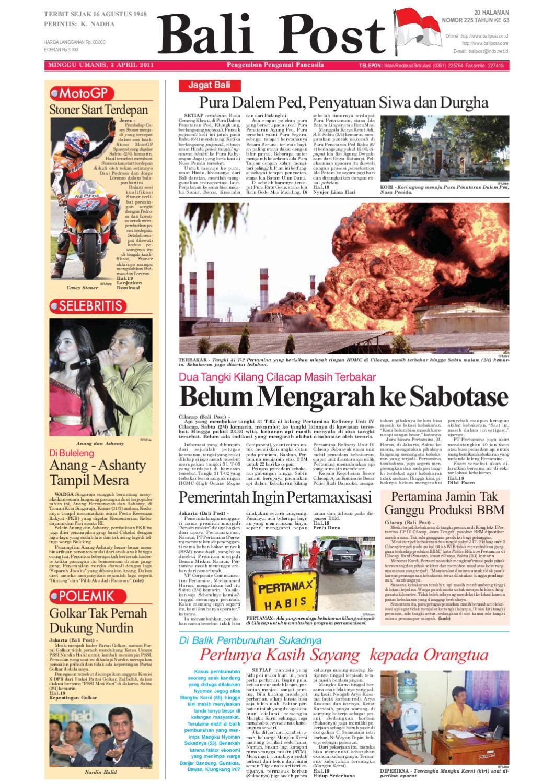 Edisi 3 April 2011 Balipostcom By E Paper Kmb Issuu Keripik Rumput Laut Jawaria Pal