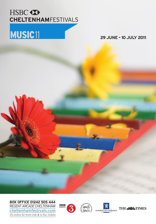 Cheltenham Music Festival 2011 by Cheltenham Festivals - issuu