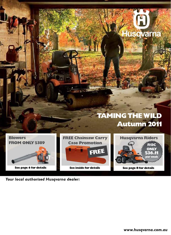 Autumn Mailer 2011 - Australia by Husqvarna AB - issuu