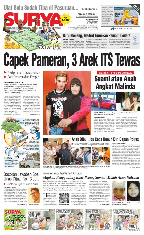 Surya Edisi 5 April 2011 By Harian Issuu Gendongan Bayi Depan Mbg 6201 Free Ongkir Jabodetabek