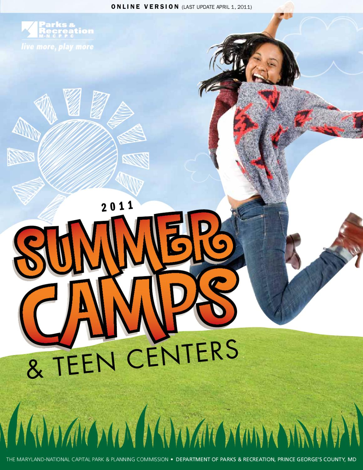 M-NCPPC, Summer Day Camp Teen Brochure 2011 by M-NCPPC, Department ...